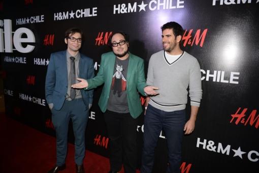 Nicolás Copano, Nicolás López y la superstrella hollywoodense Eli Roth