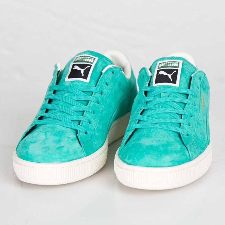 Zapatos verdes Puma Suede para mujer LRrNm4x5bu
